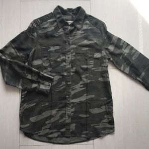 Express boyfriend camouflage button down